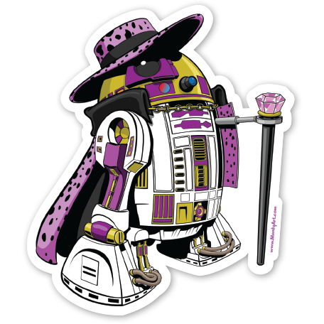 Image of Pimp2-D2 Sticker