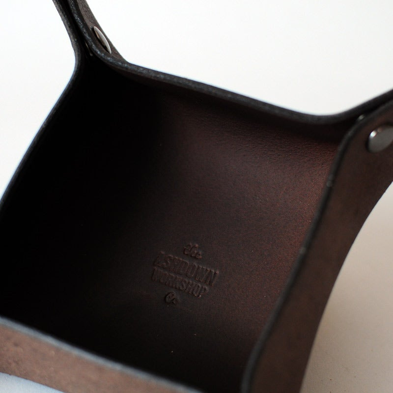 Image of Leather Hold-All Tray - Umber - Small
