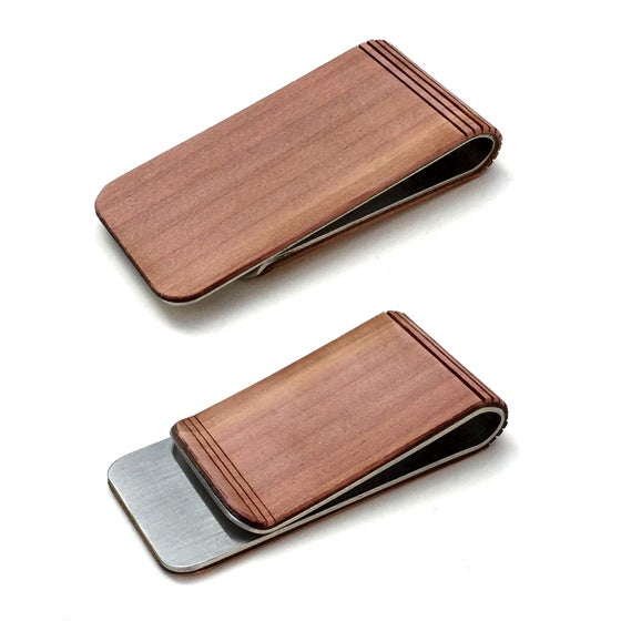 Image of TIMBER Wood Skin Money Clip