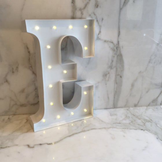 Image of Letter lights White