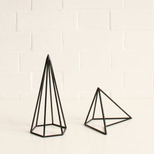 Image of Black geometric shapes
