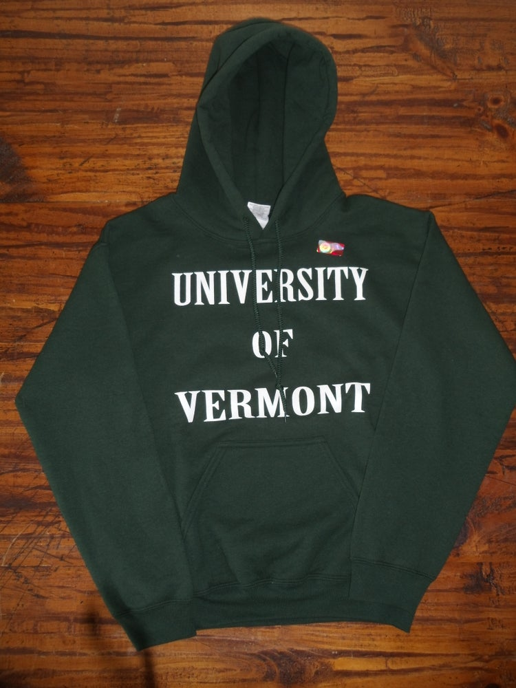Image of University of Vermont (UVM) Hooded Sweatshirt w/ Paw on the Back - Available in Kids & Adult Sizes