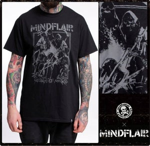 "Image of MINDFLAIR ""scourge of mankind"" Shirt"