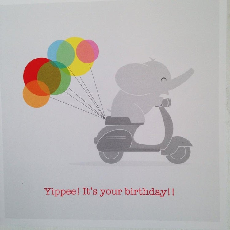 Image of Yipee! Birthday Card