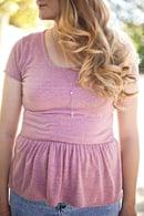 Image 2 of women's PENELOPE knit PEPLUM PDF +