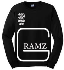 "Image of Long Sleeve ""GRAMZ"" tee Black"