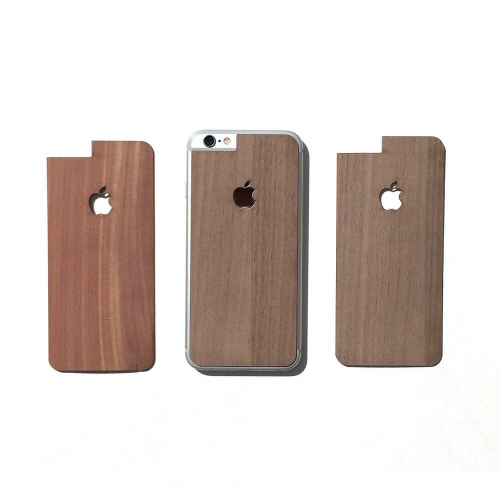 Image of TIMBER iPhone 6 w/Apple Logo Natural Wood Skin Back - Free USA Shipping