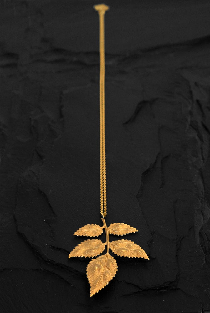 Image of Branch necklace in brass