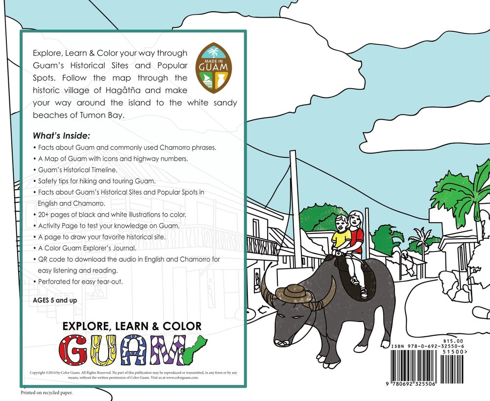 Image of Guam Historical Coloring Book
