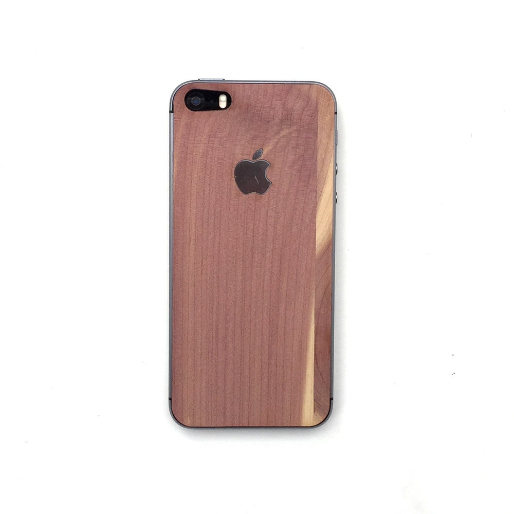 Image of TIMBER iPhone 5s with Apple Logo Natural Wood Skin Back