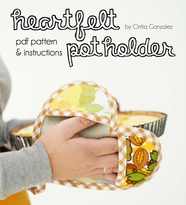Image of Heartfelt Pot Holder PDF Pattern & Instructions