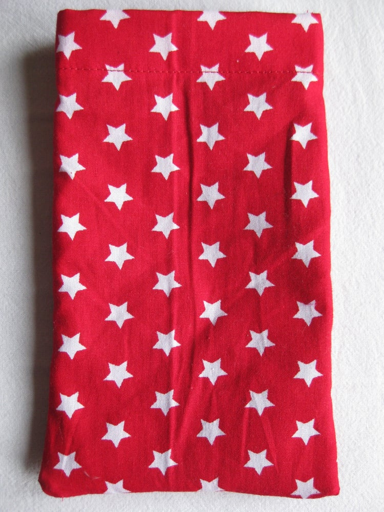 Image of Starry red mobile phone pouch