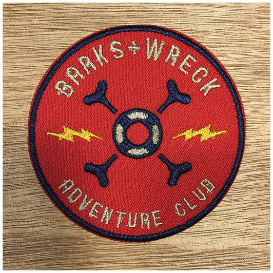 Image of Iron-On Patch:  BARKS+WRECK ADVENTURE CLUB