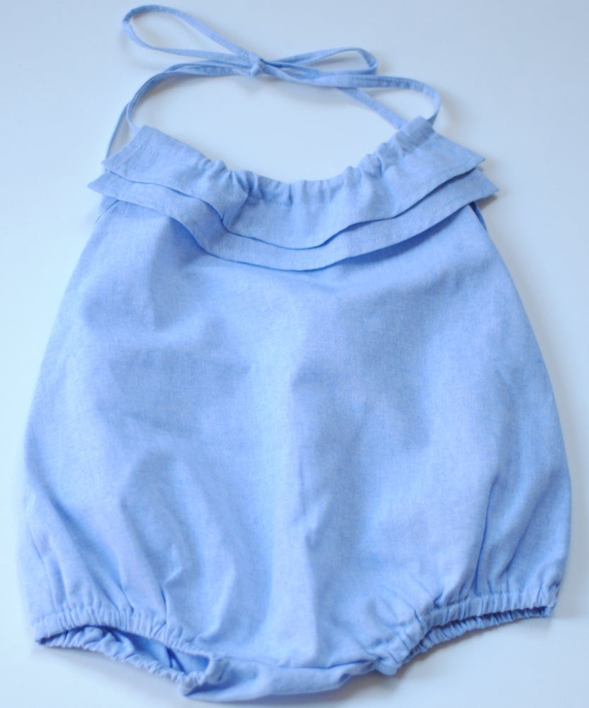 Image of - SOLDEE -50% - Barboteuse / Rompers ALIZEE chambray