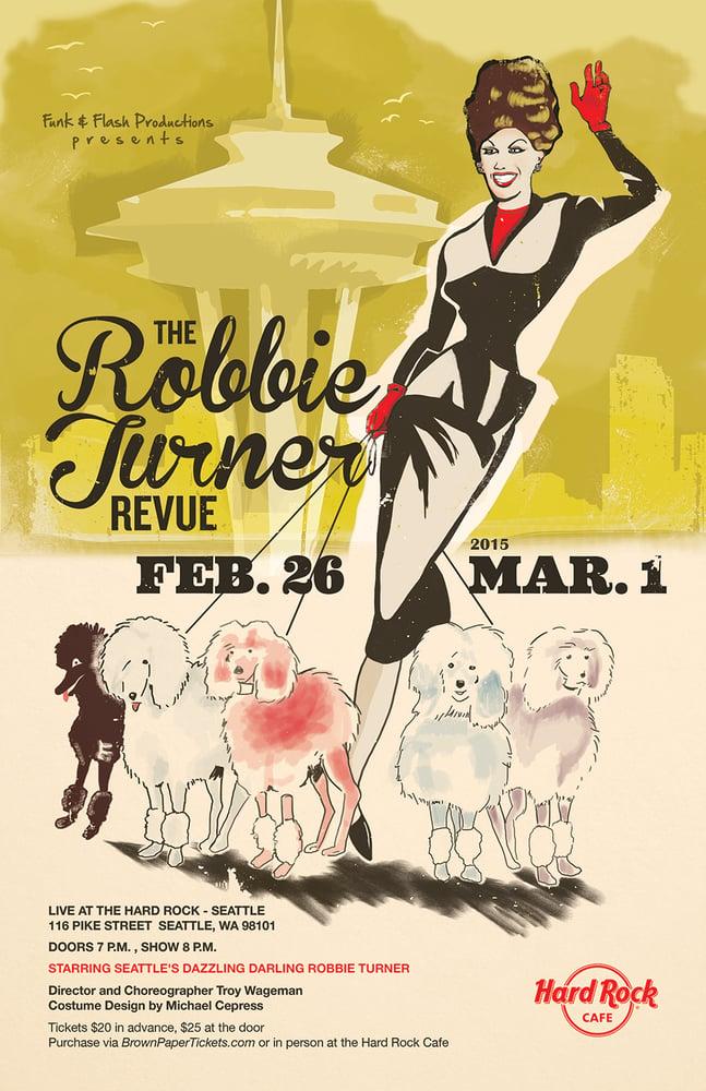 Image of Robbie Turner Revue Poster - Feb 26-Mar 1