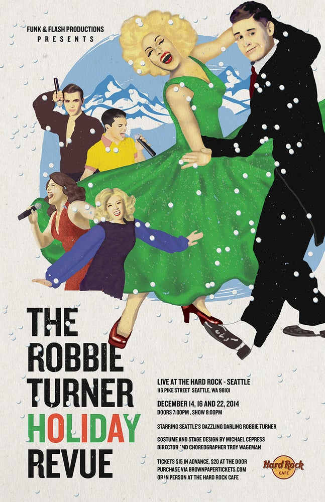 Image of Robbie Turner Revue Poster : Holiday Revue