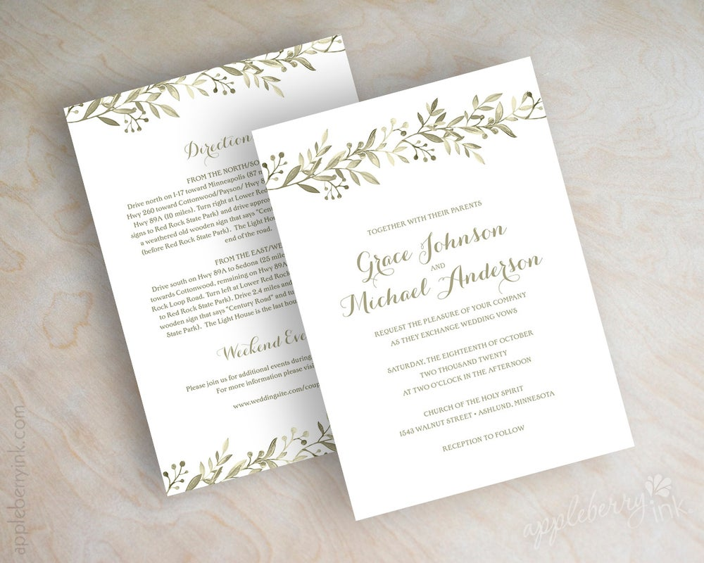 Anne olive wedding invitations appleberry ink simple affordable image of anne olive wedding invitations filmwisefo