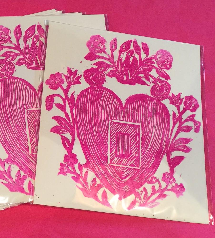 Image of Heart Flower Print