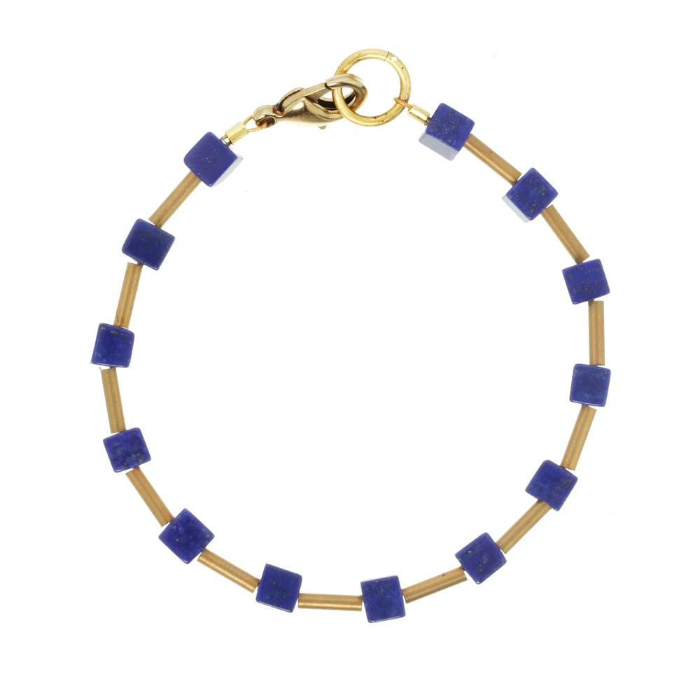 Image of LAPIS CUBE bracelet