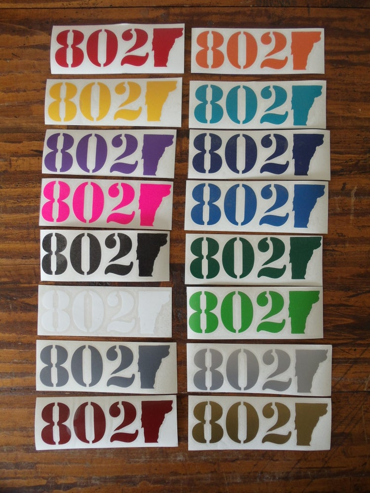 Image of 802 Stickers Vinyl Bumper 802 Sticker - Vermont sticker - vermont stickers