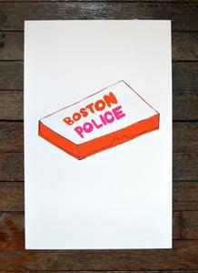 "Image of ""Boston Police"" Silkscreened Poster"