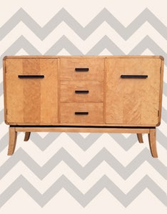 Image of 1930s Streamline Moderne/Functionalist Sideboard by Asko of Finland
