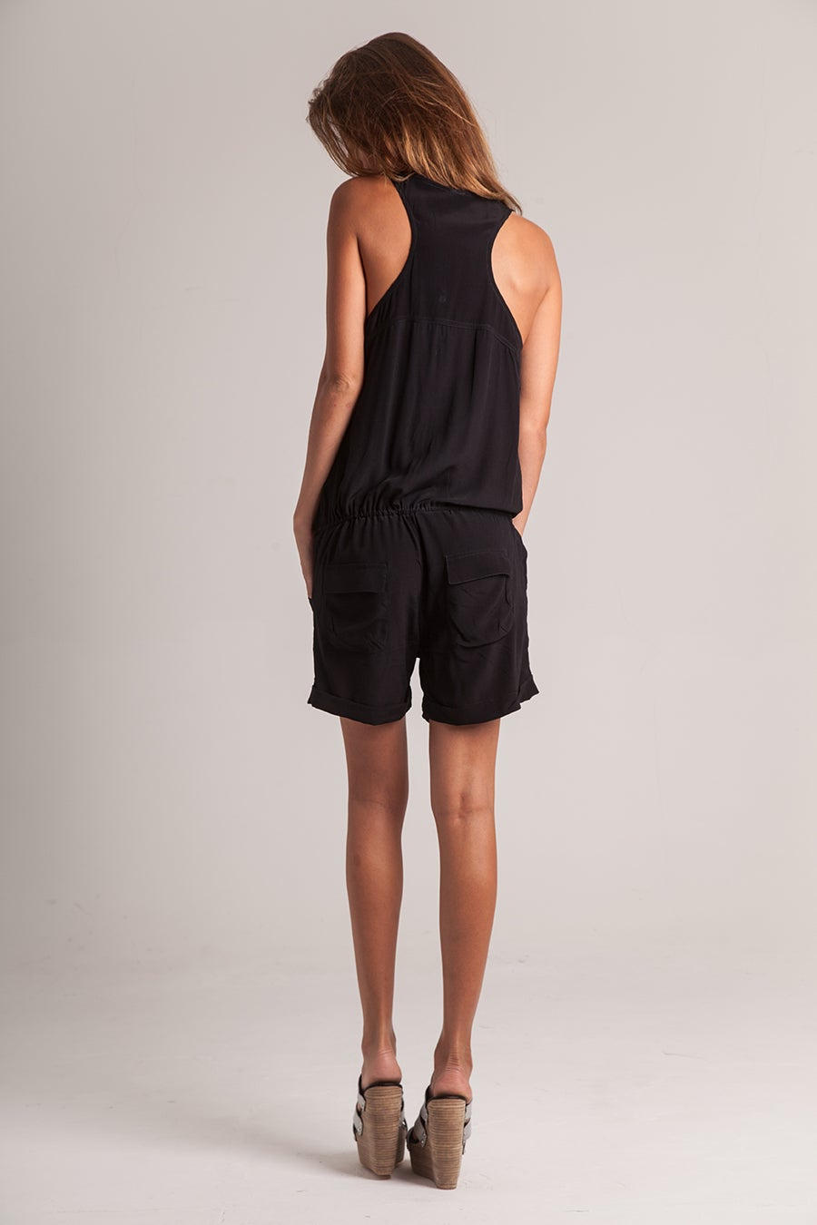 Image of *PRESALE* JASMIN PLAYSUIT - BLACK