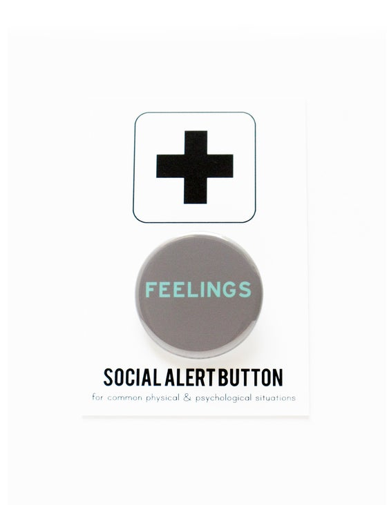 Image of FEELINGS Pinback Button Badge