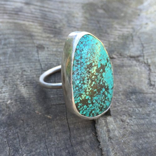 Image of TURQUOISE AND SILVER RING