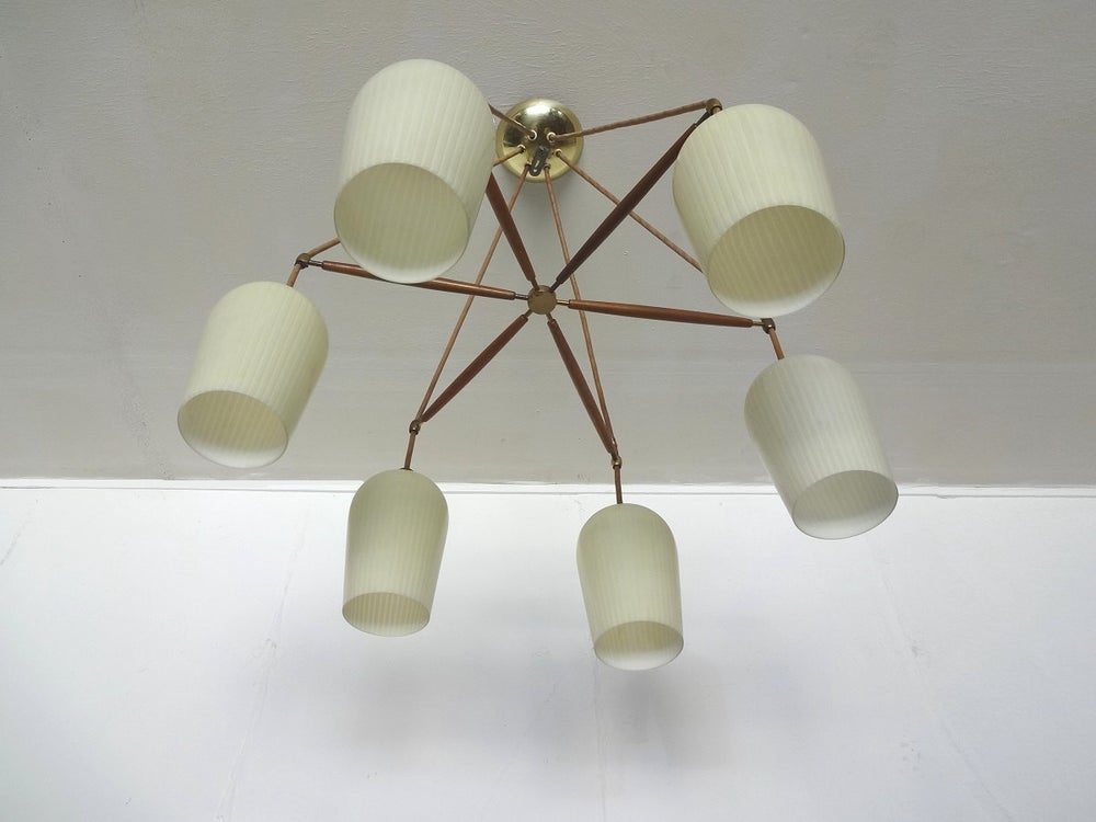 Image of Lightolier Chandelier by Gerald Thurston