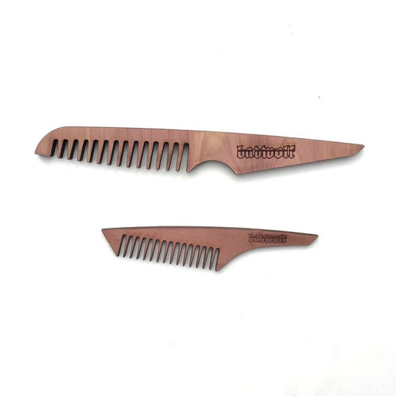 Image of BadWolf 'Butcher' Cedar Beard Comb