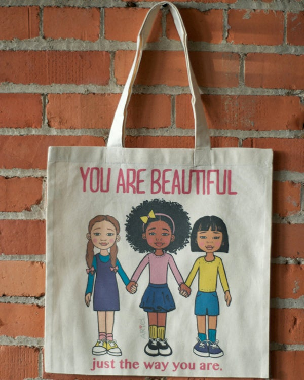 Image of You are Beautiful Tote Bag