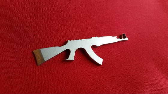 Image of AK47 Bottle Opener Keychain Tool