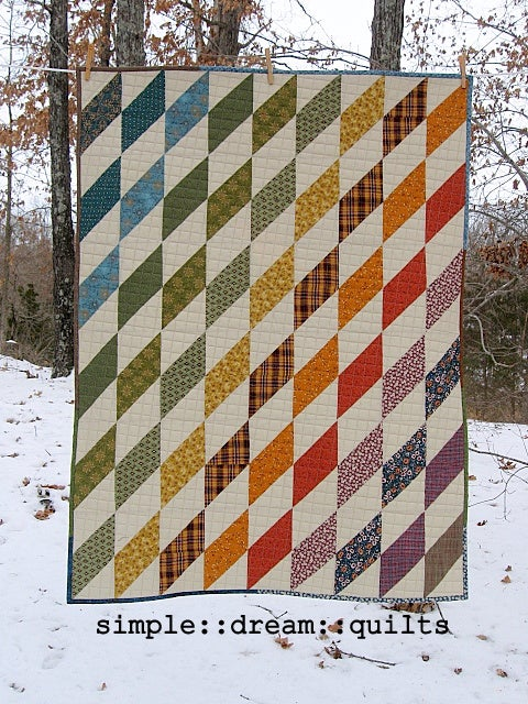 """Image of lap quilt, baby quilt - 49""""x37"""" - harlequin - modern quilt"""