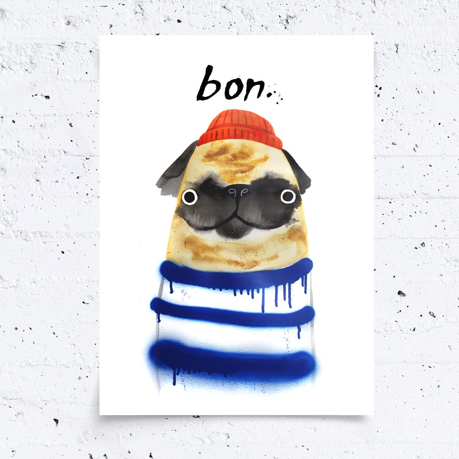 Image of BON PUG - A3 Print