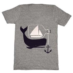 Image of Ship Whale & Bottle - VNeck XXS