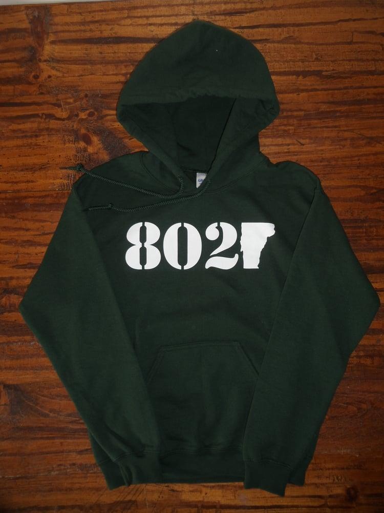 Image of 802 Classic Vermont Hooded Sweatshirt - Vermont Sweatshirt - 802 Hoodie - Vermont Hoodie