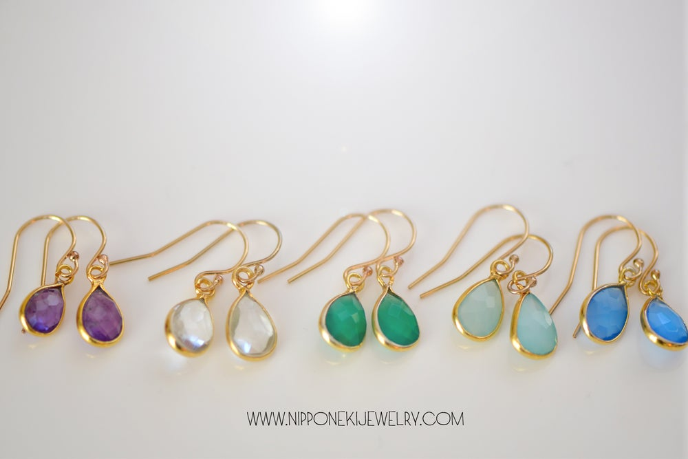 Image of Gemstone Earrings / Chalcedony Earrings / Gemstone Earrings / Gift