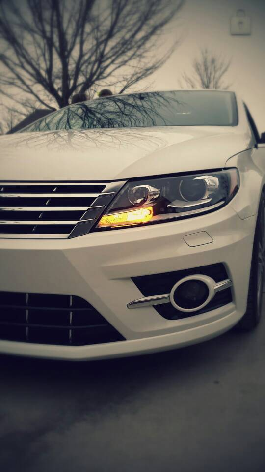 Image of PWY24W Front Turn Signals Error Free - Available in White or Amber Fits: VW CC & 2018+ MK7 JETTA