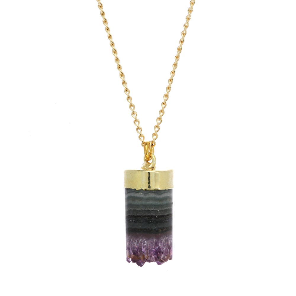 Image of AMETHYST CYLINDER pendant