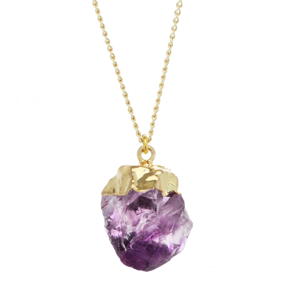 Image of GOLD DIPPED AMETHYST pendant