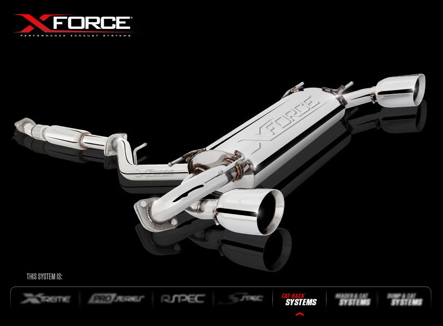 "Image of XForce Cat-Back System 3"" Stainless Steel"