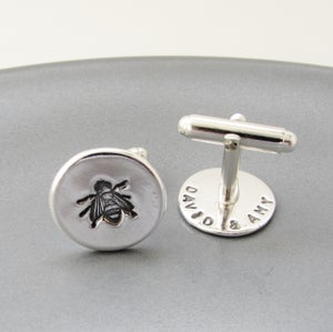 Image of Silver Bee Cufflinks