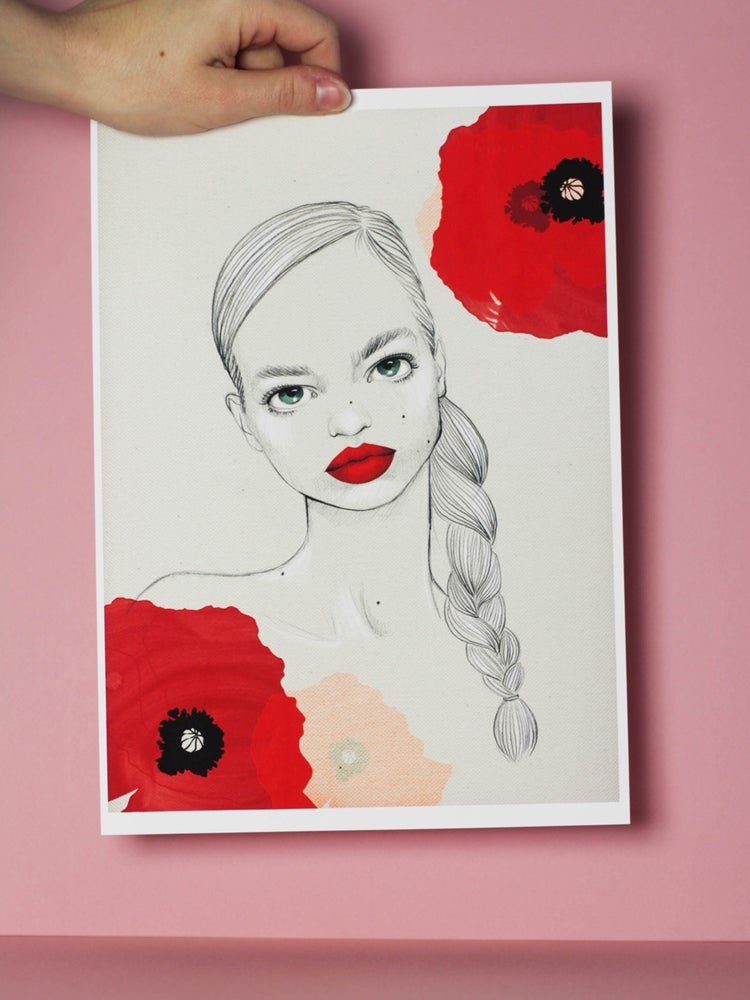 Image of FILLE AUX COQUELICOTS