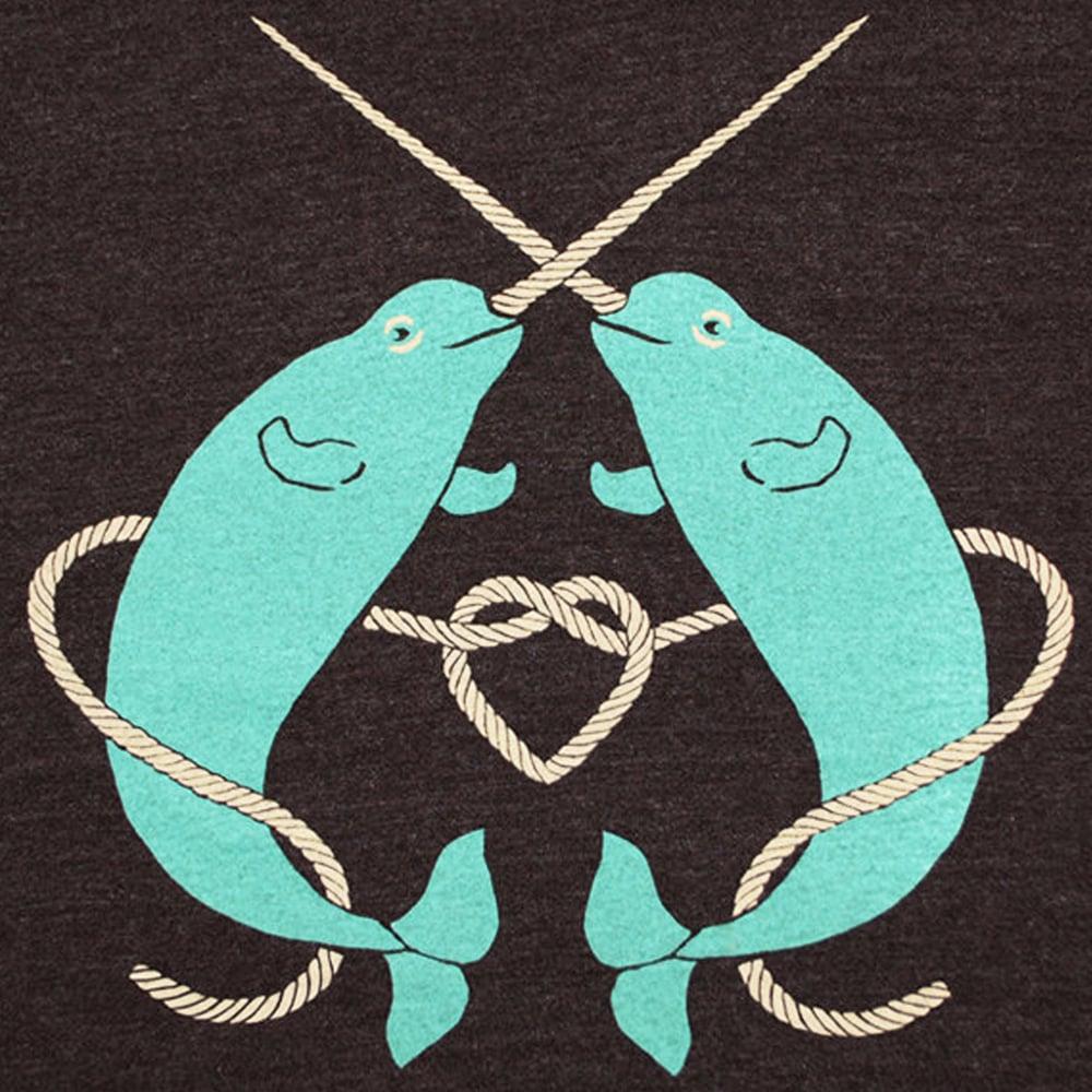 470b2d8e GNOME ENTERPRISES   Handprinted T-shirts for Men + Women + Kids + Infants —  Narwhals T-shirt