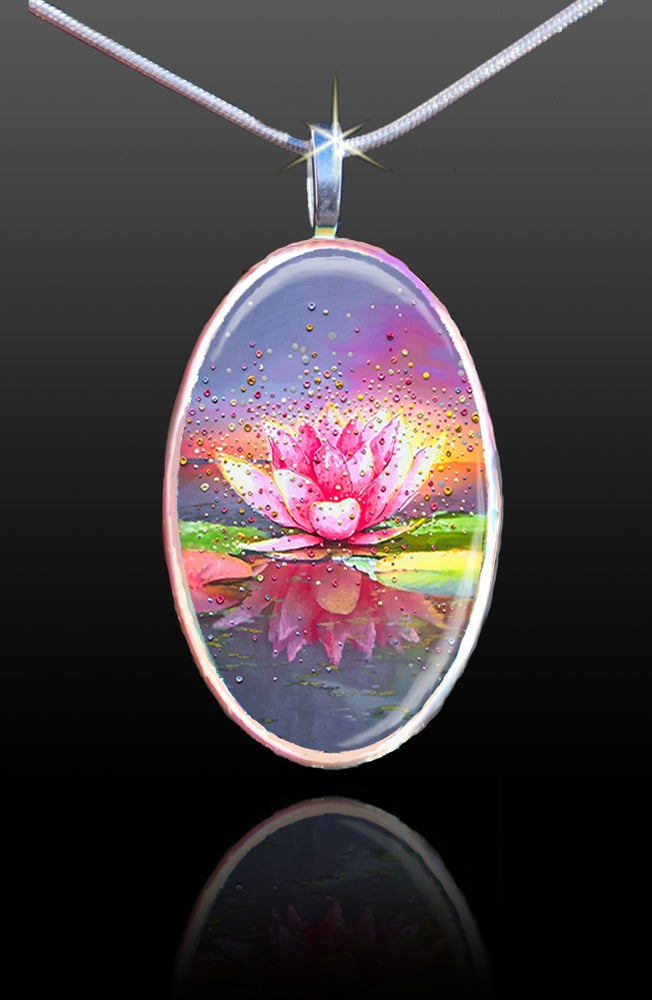 Image of The Pink Lotus Energy Pendant