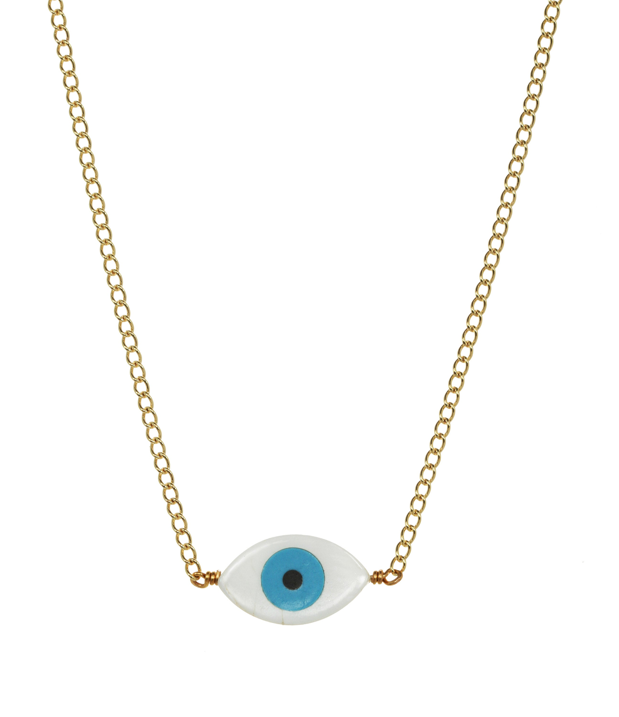 we see stars jewelry — EVIL EYE PROTECTION CHOKER necklace