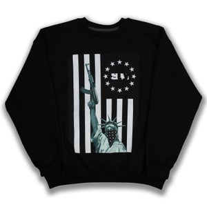Image of Lady Liberty Flag Crewneck