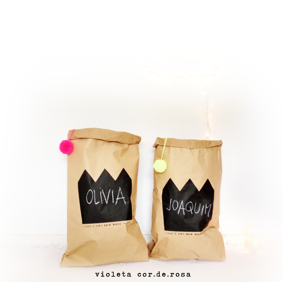 Image of CHALKBOARD PAPER BAG