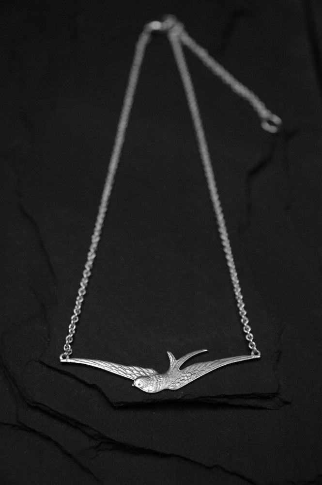 Image of Swallow necklace in brass